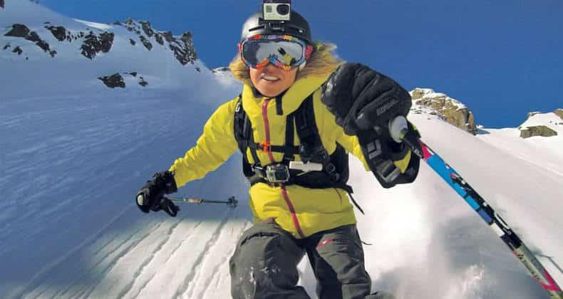 goproHero3+skiiing